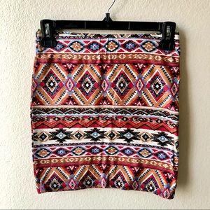 Forever 21 Tribal Print Mini Skirt